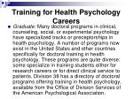training for health psychology careers28