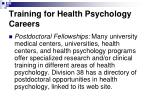 training for health psychology careers30
