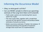 informing the occurrence model
