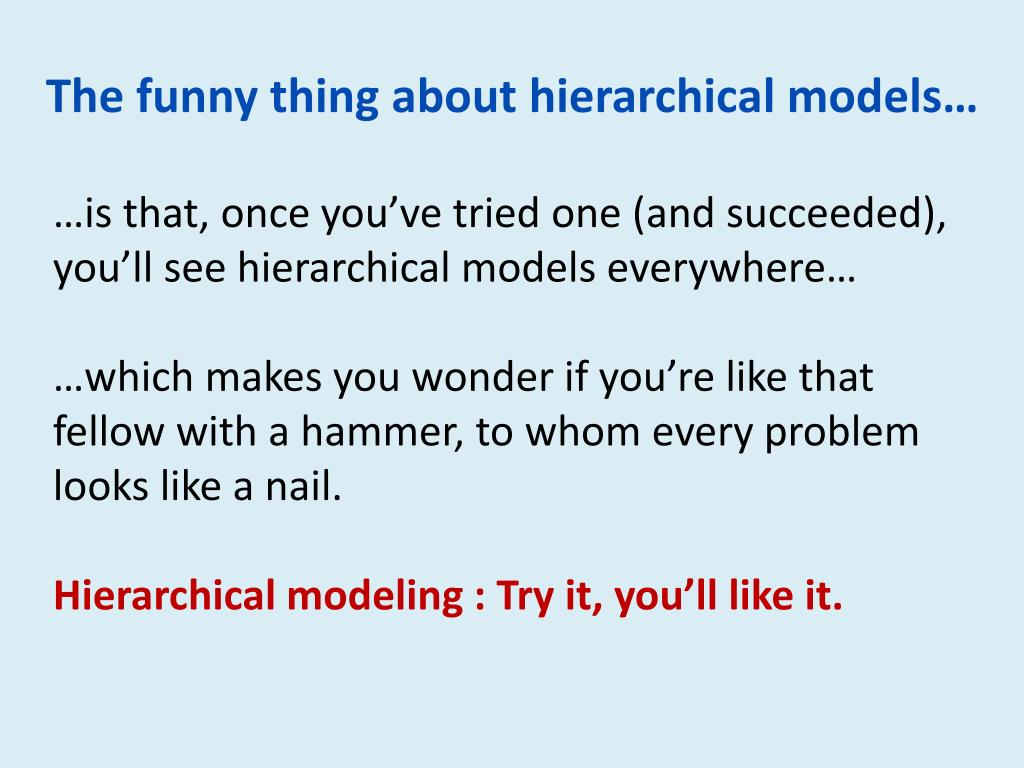 The funny thing about hierarchical models…