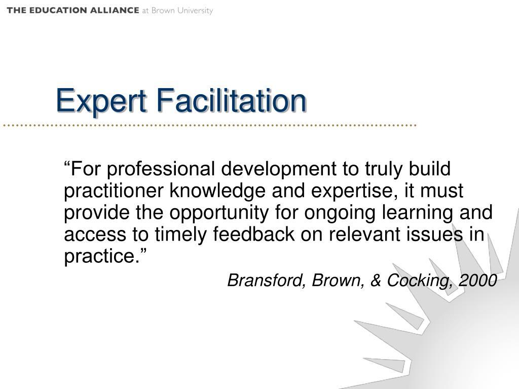 Expert Facilitation