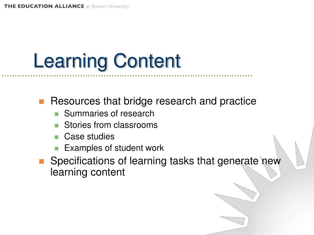 Learning Content