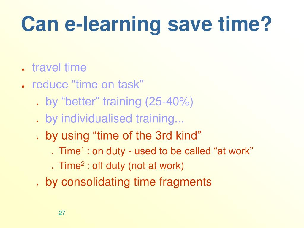 Can e-learning save time?