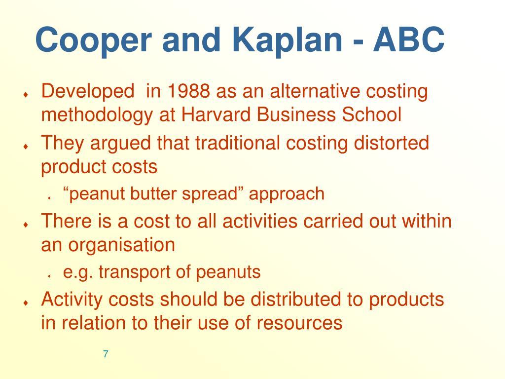 Cooper and Kaplan - ABC