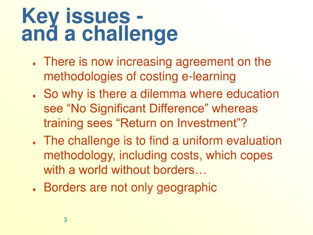 Key issues -