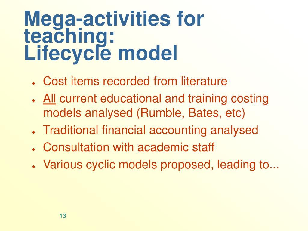 Mega-activities for teaching: