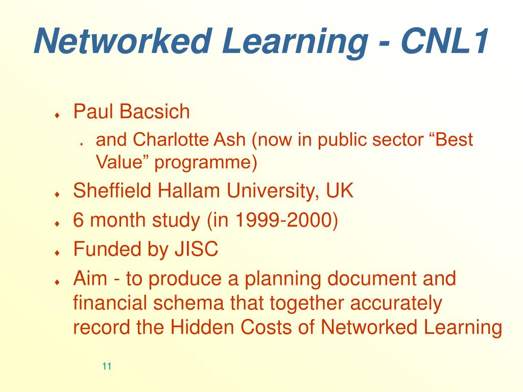 Networked Learning - CNL1