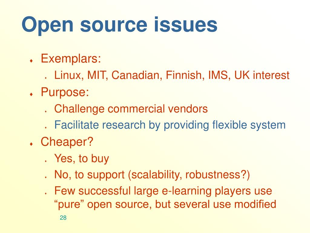 Open source issues