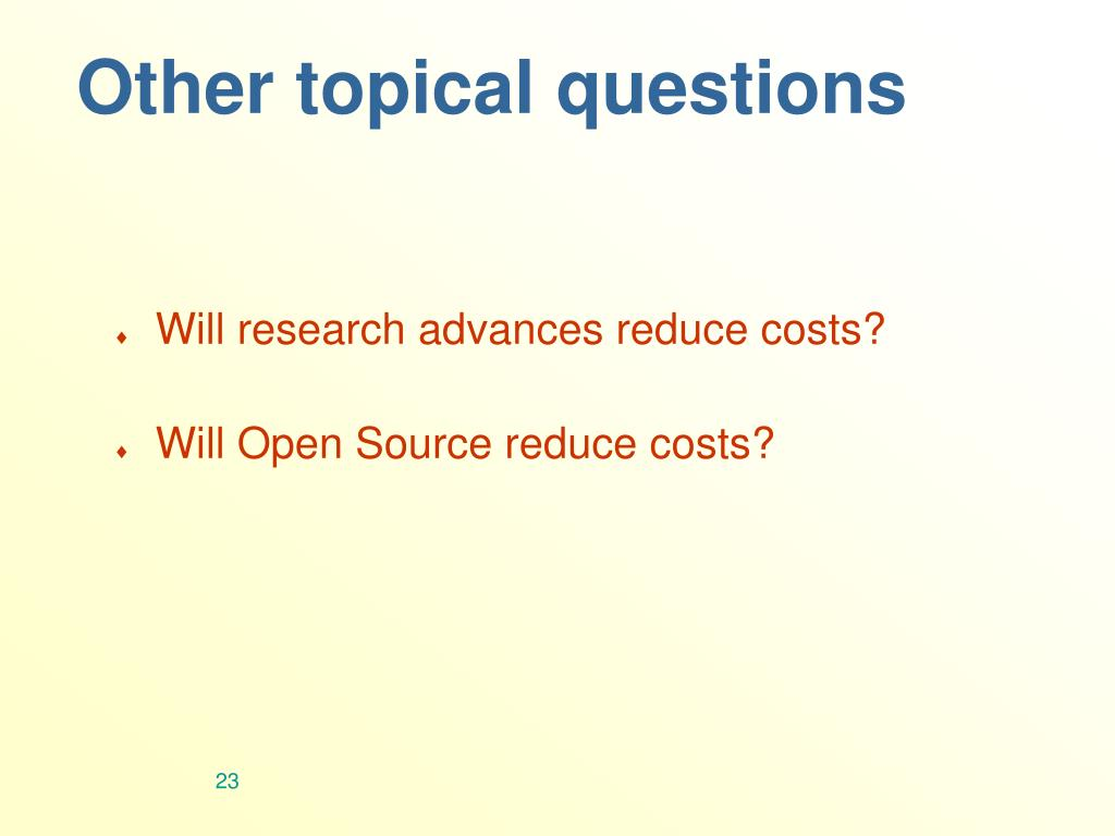 Other topical questions