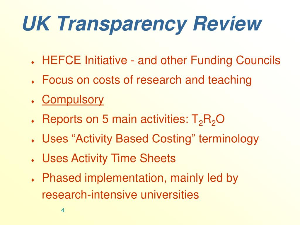 UK Transparency Review