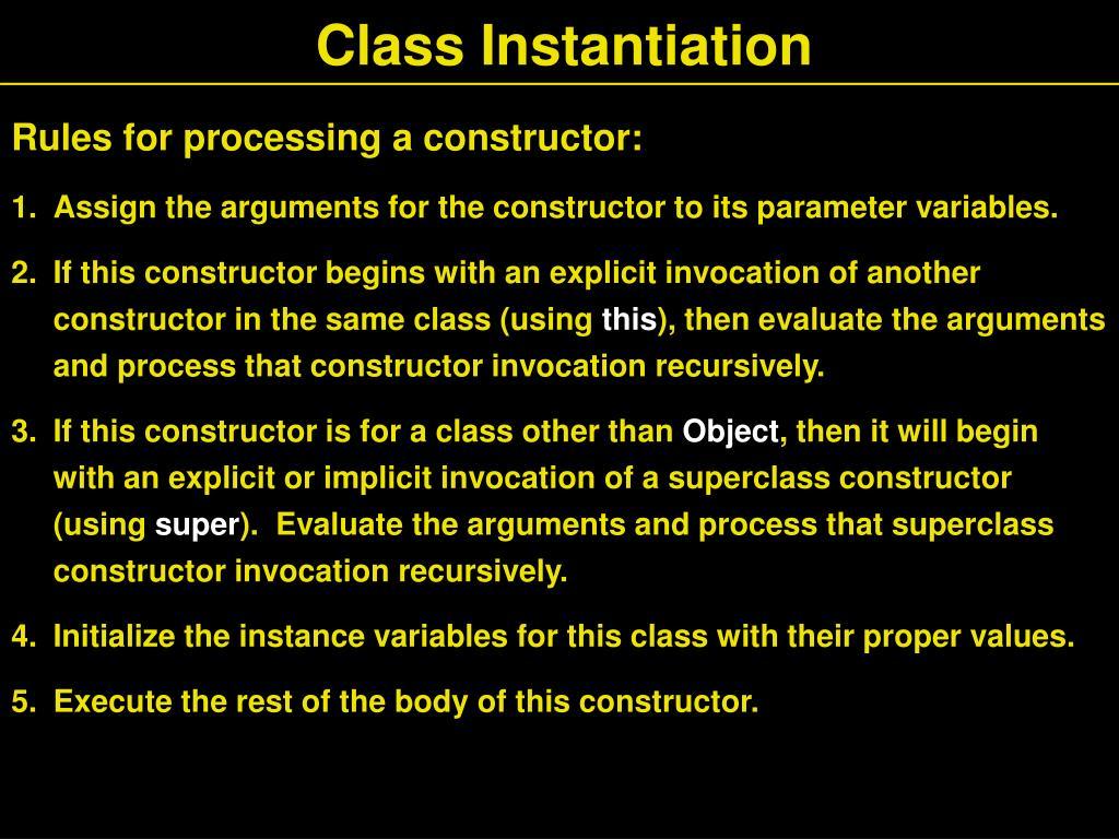 Class Instantiation