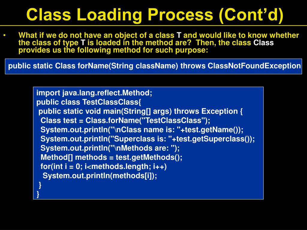 Class Loading Process (Cont'd)