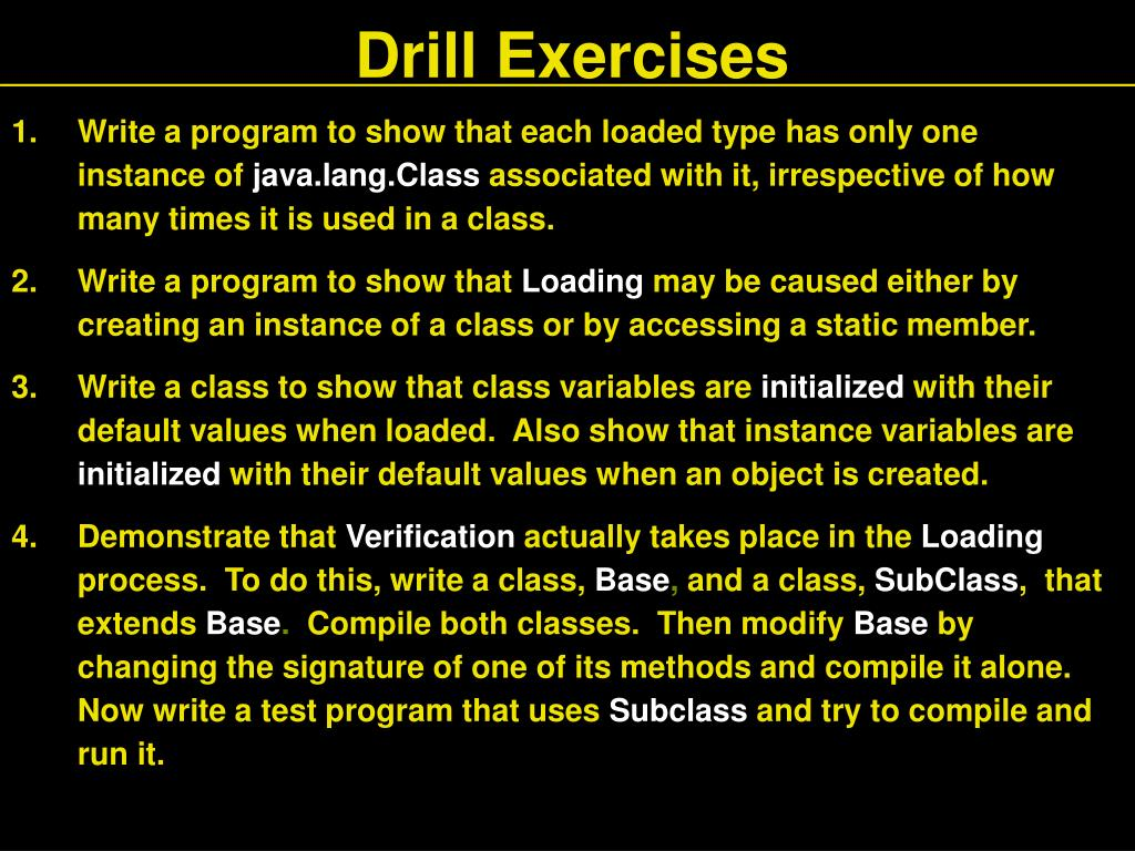 Drill Exercises