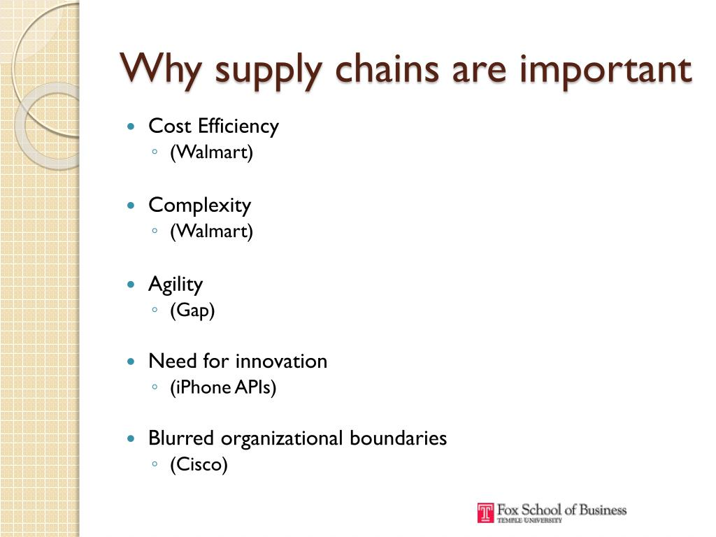 Why supply chains are important