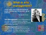 what is arts management