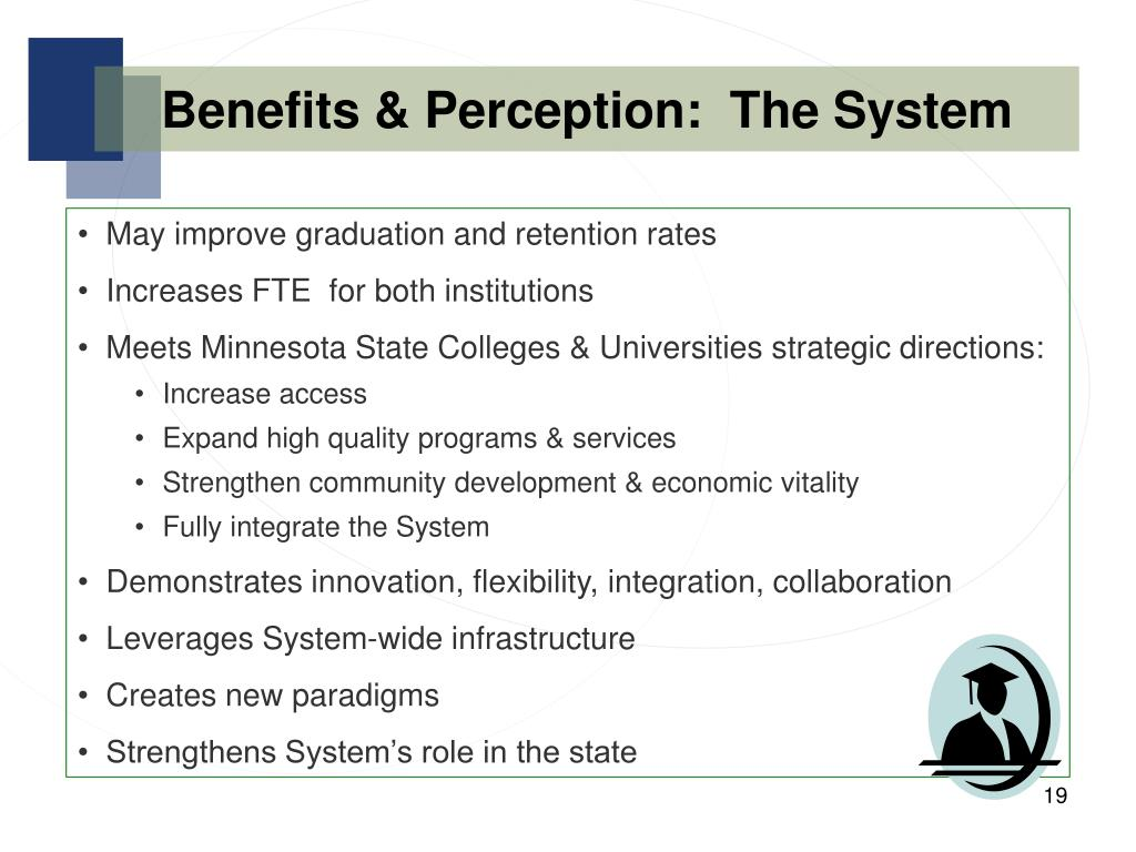 Benefits & Perception:  The System