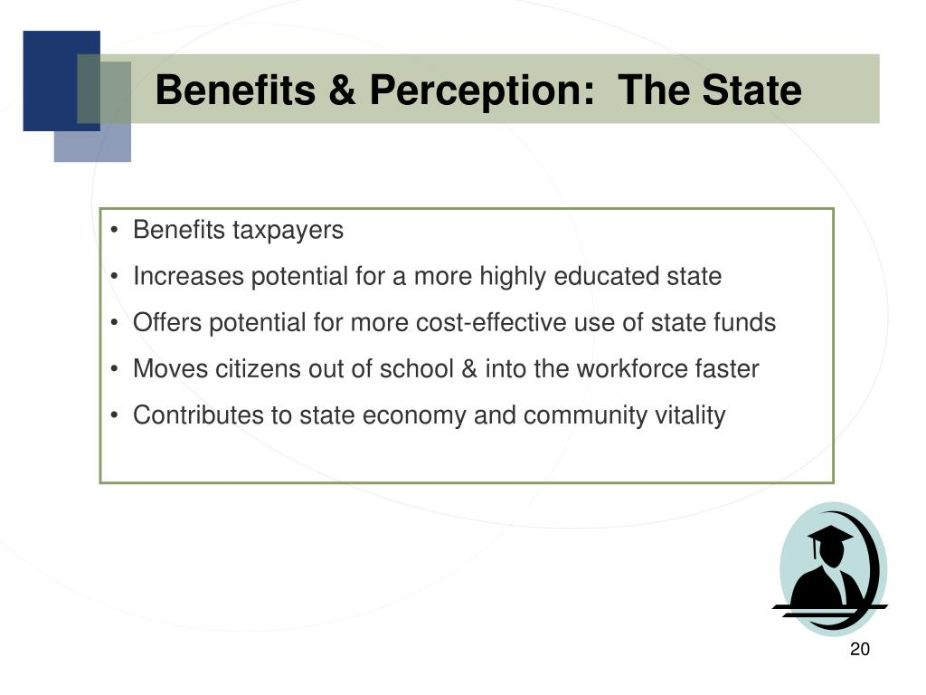 Benefits & Perception:  The State
