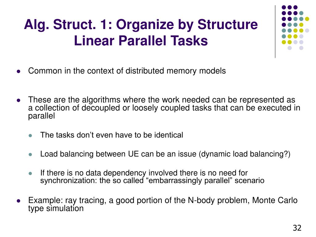 Alg. Struct. 1: Organize by Structure