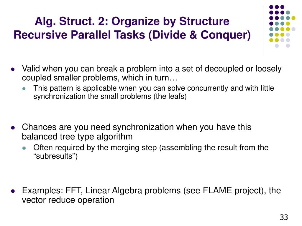 Alg. Struct. 2: Organize by Structure