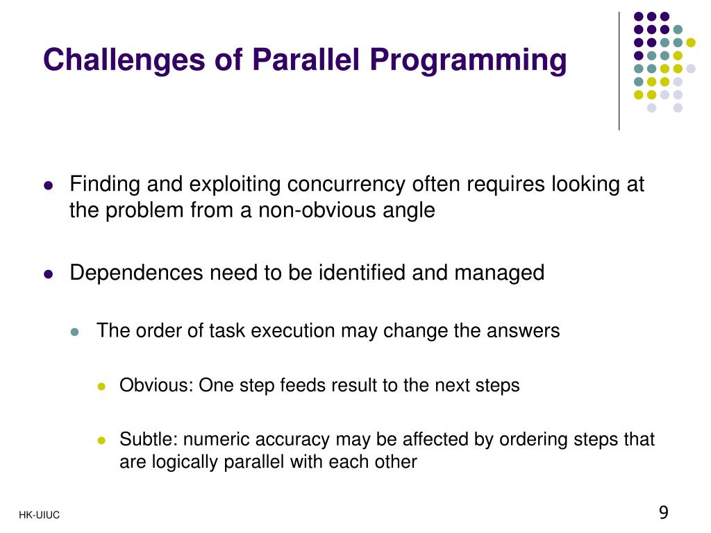 Challenges of Parallel Programming