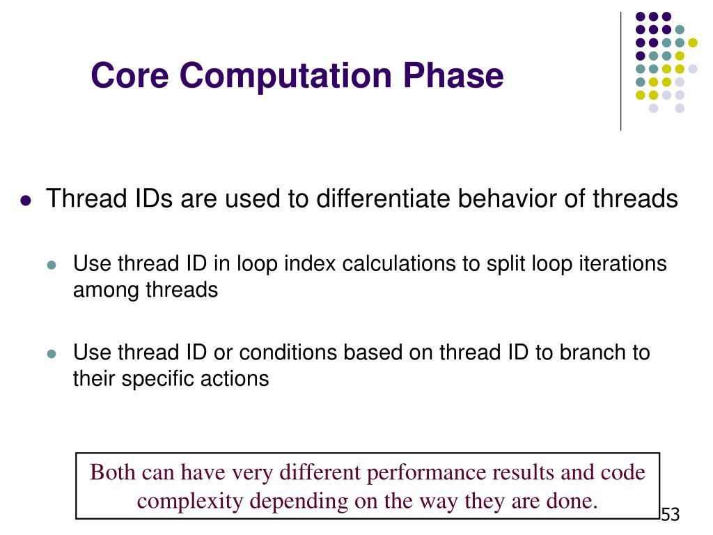 Core Computation Phase