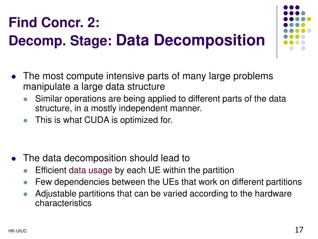 Find Concr. 2: