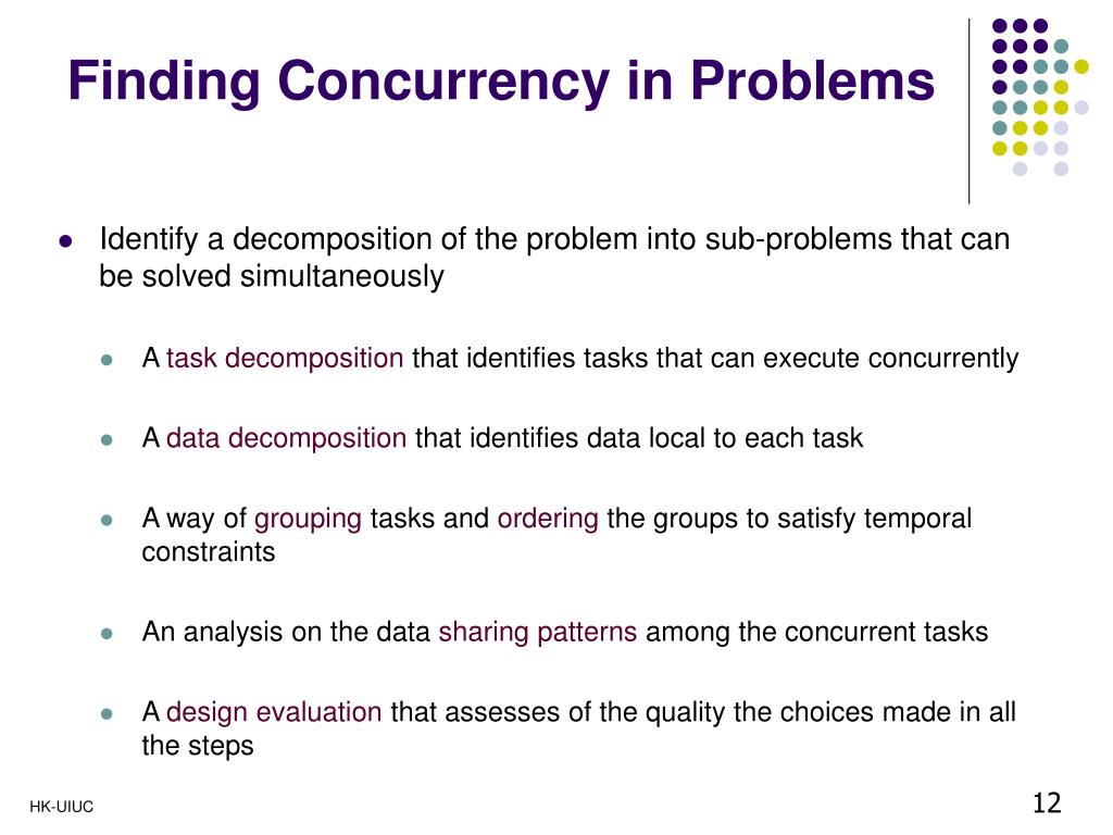 Finding Concurrency in Problems