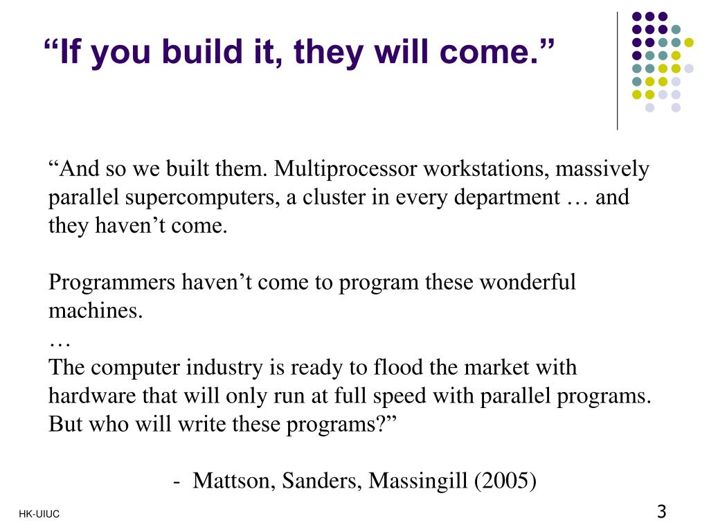 """""""If you build it, they will come."""""""