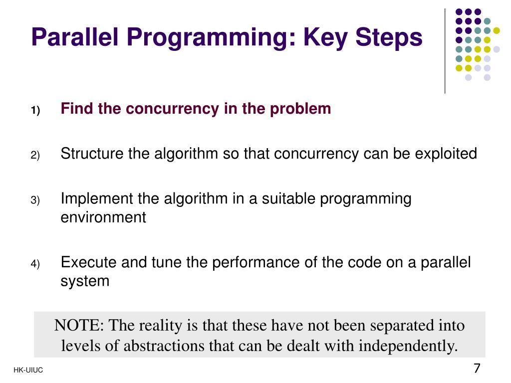 Parallel Programming: Key Steps