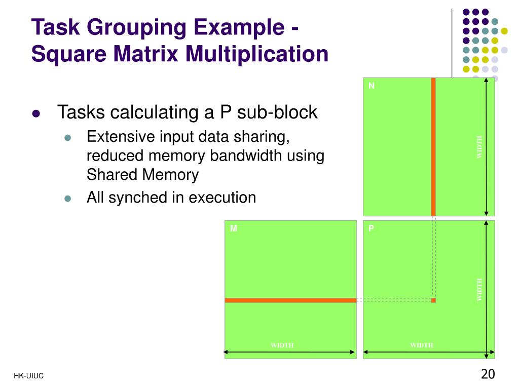 Task Grouping Example -