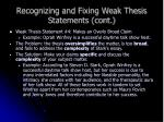 recognizing and fixing weak thesis statements cont13