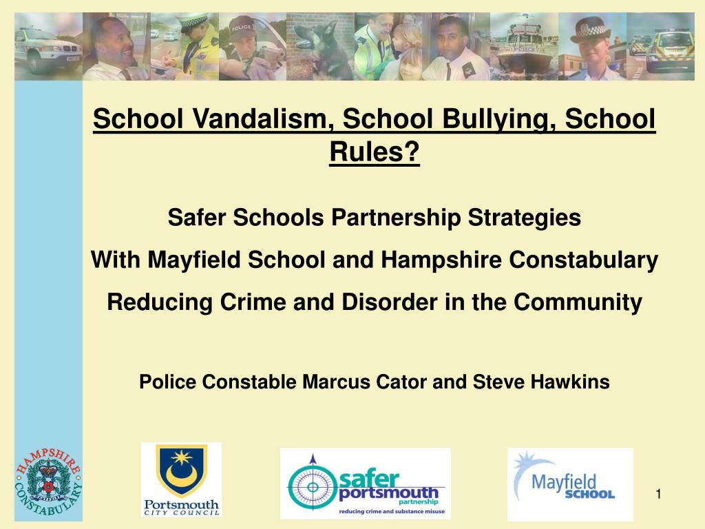 School Vandalism, School Bullying, School Rules?