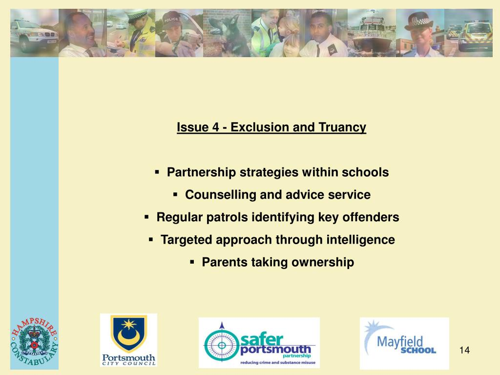 Issue 4 - Exclusion and Truancy
