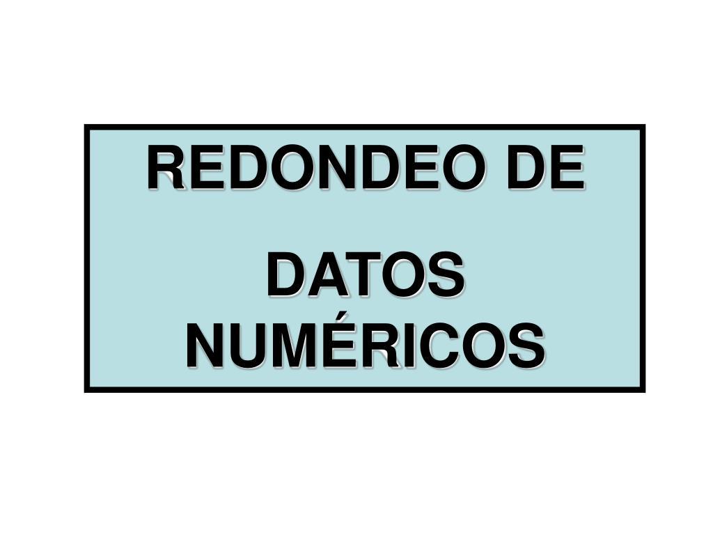 REDONDEO DE