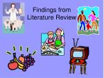findings from literature review