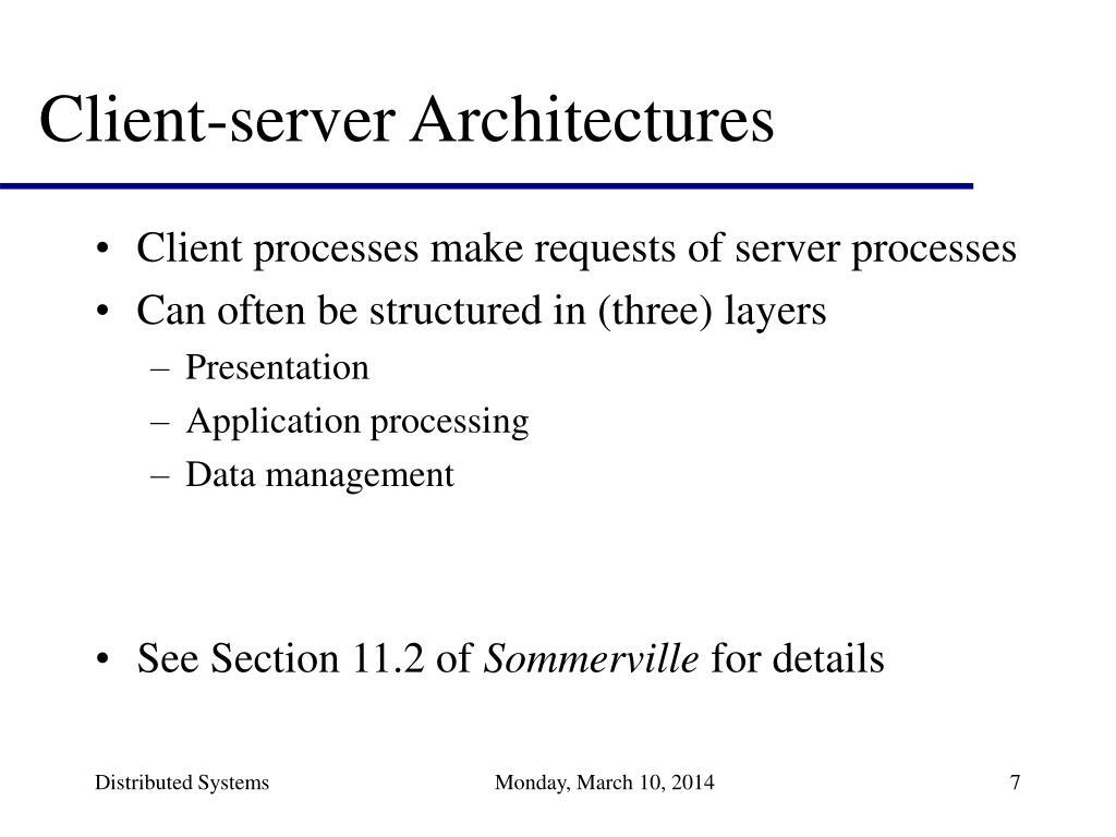Client-server Architectures