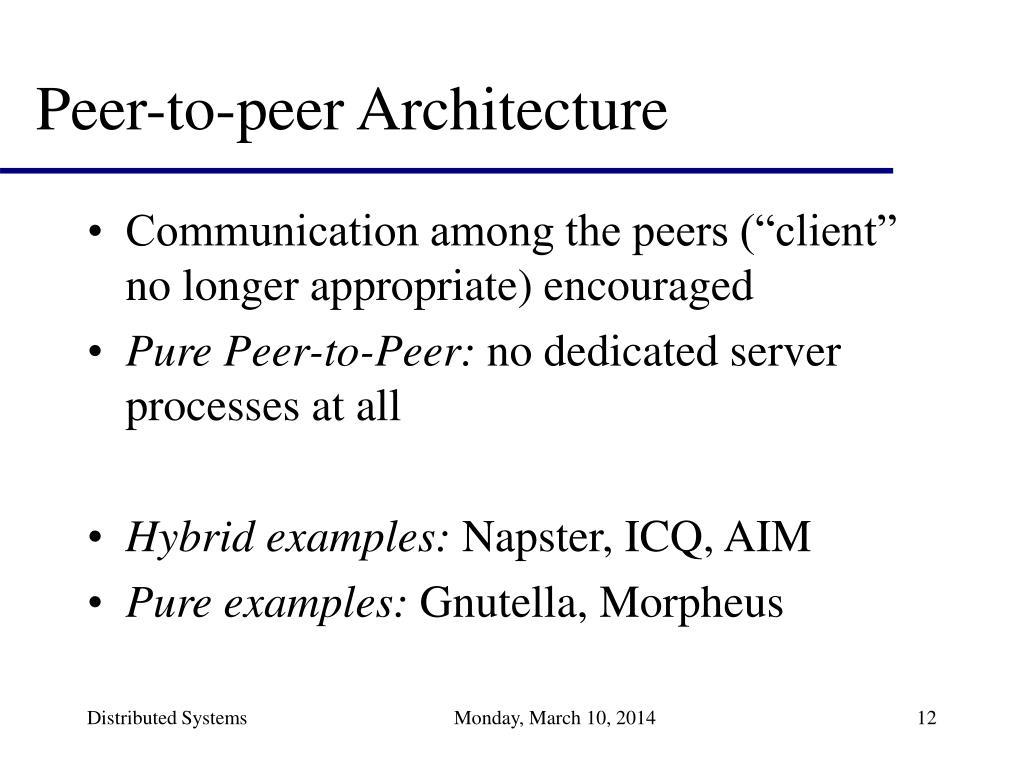 Peer-to-peer Architecture