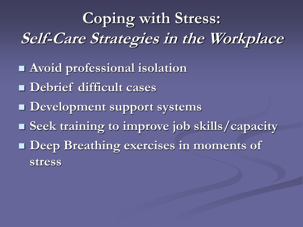 Coping with Stress: