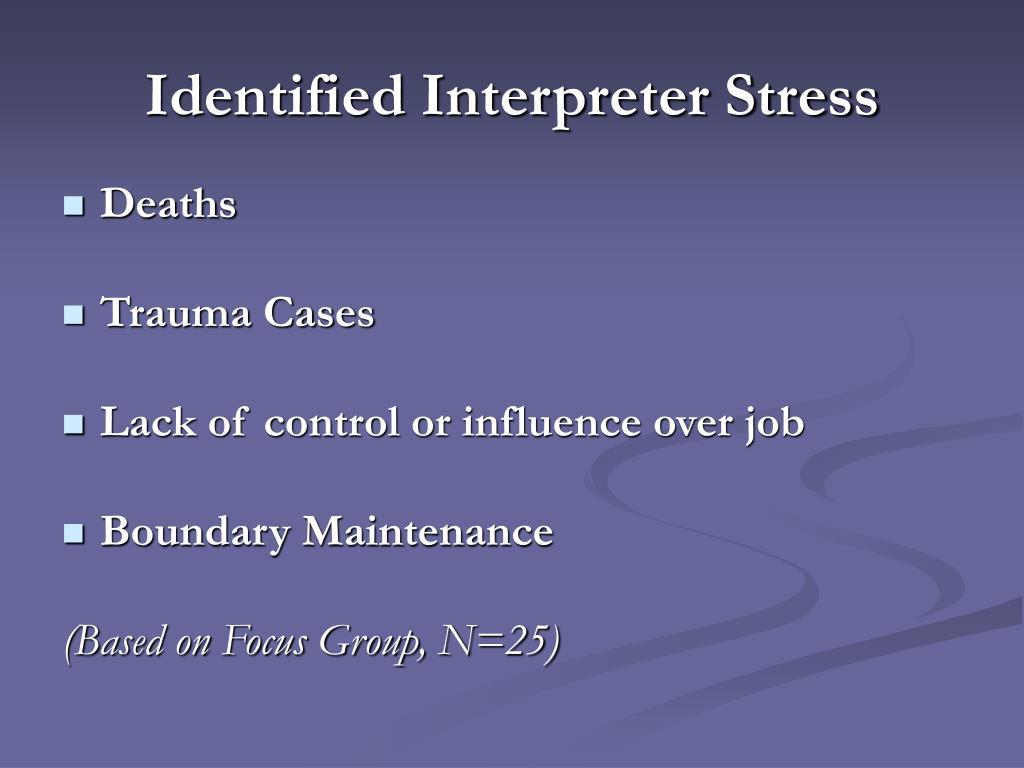 Identified Interpreter Stress