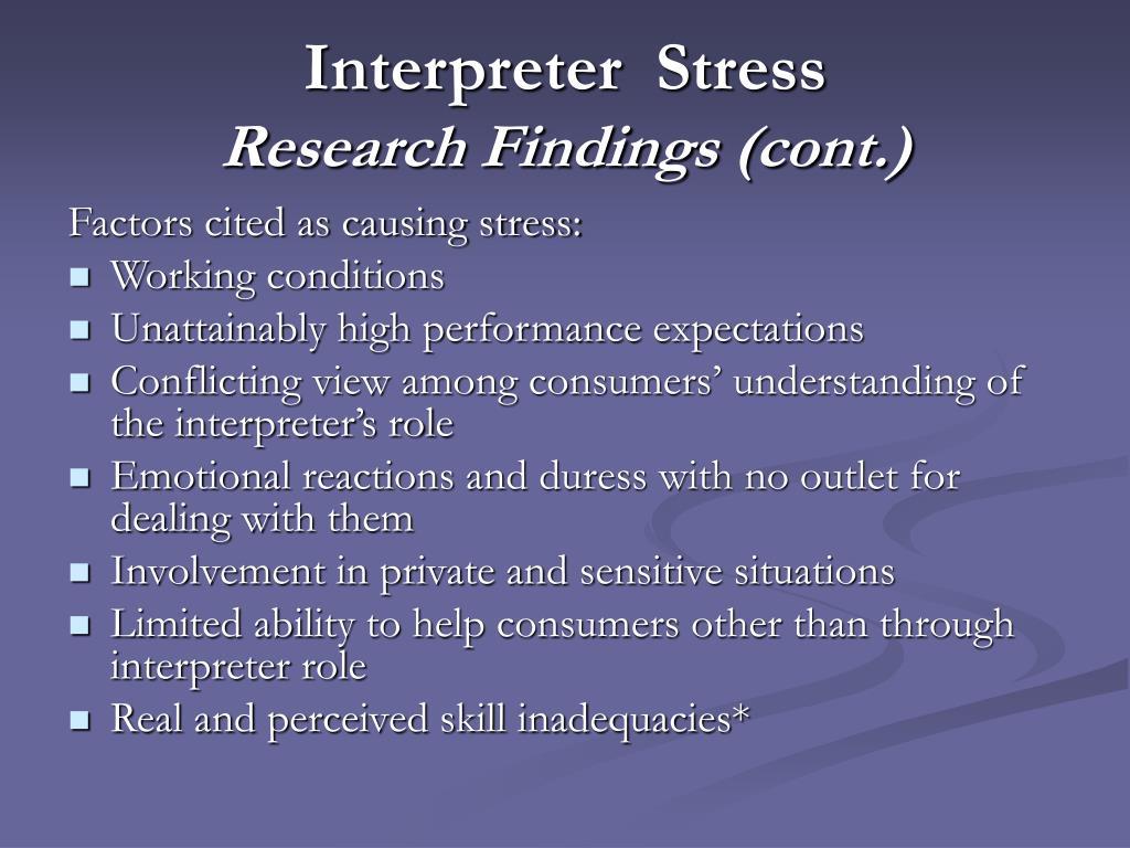 Interpreter  Stress