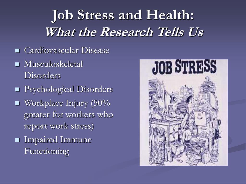 Job Stress and Health: