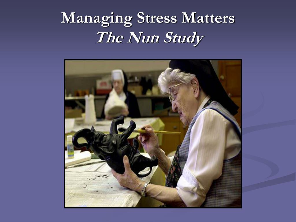 Managing Stress Matters