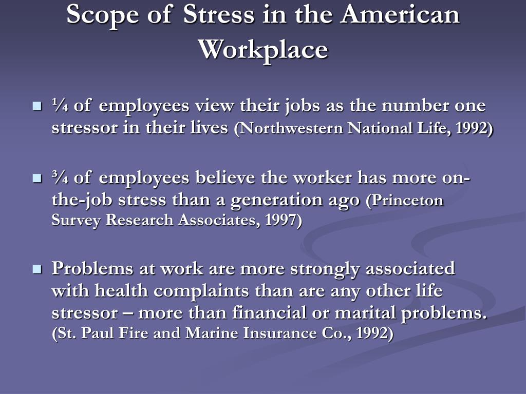 Scope of Stress in the American Workplace