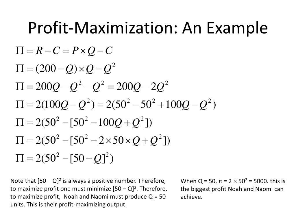 Profit-Maximization: An Example