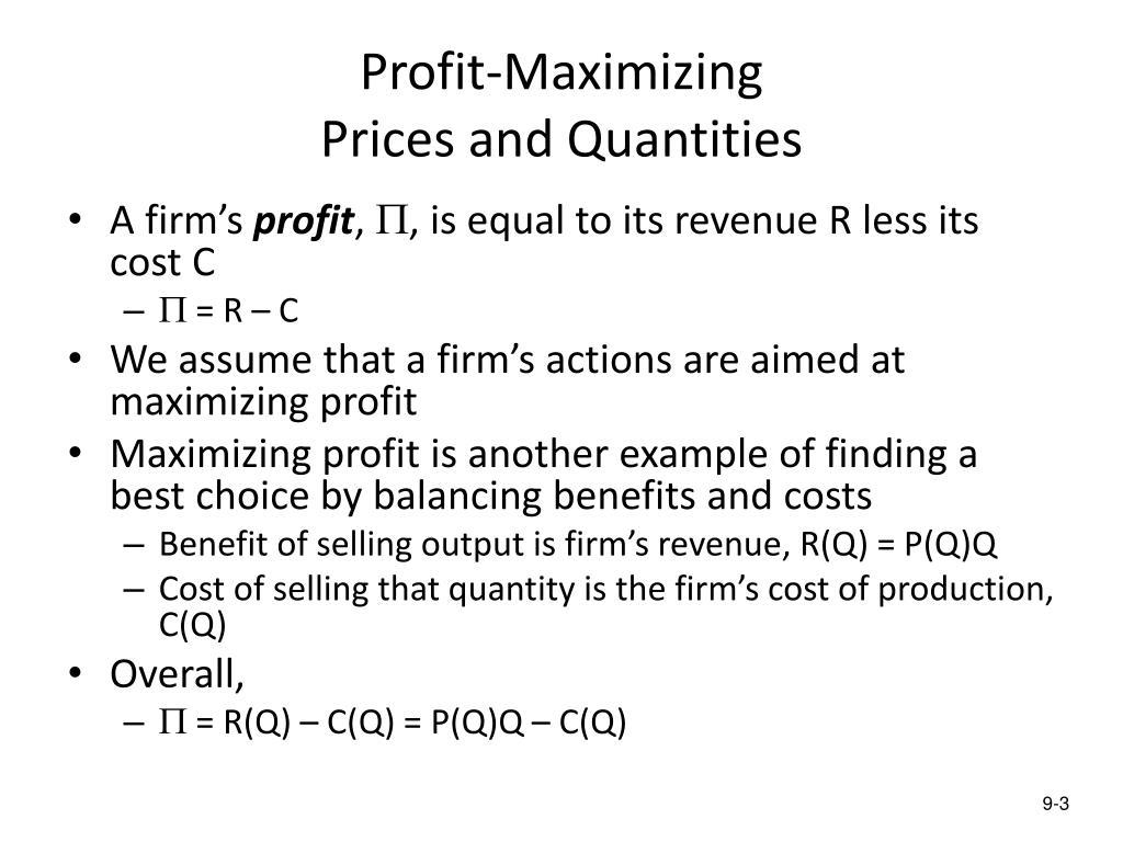Profit-Maximizing