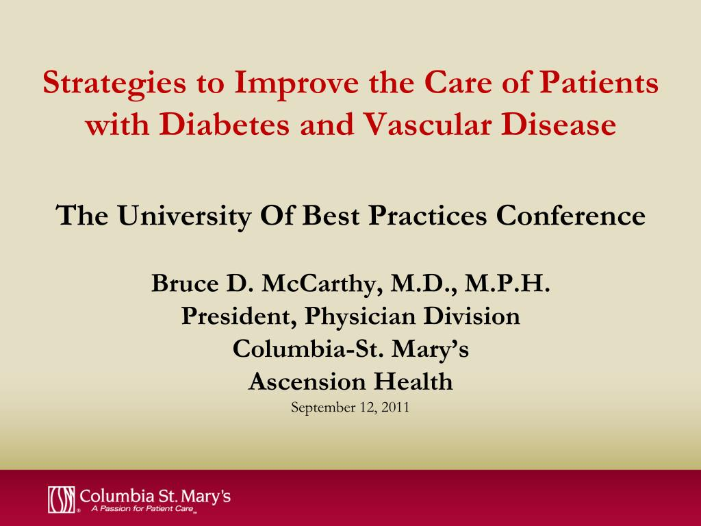 Strategies to Improve the Care of Patients with Diabetes and Vascular Disease