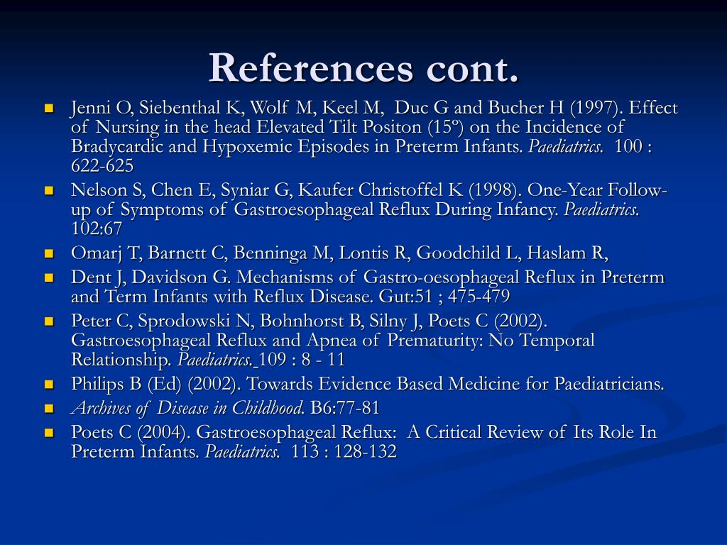 References cont.