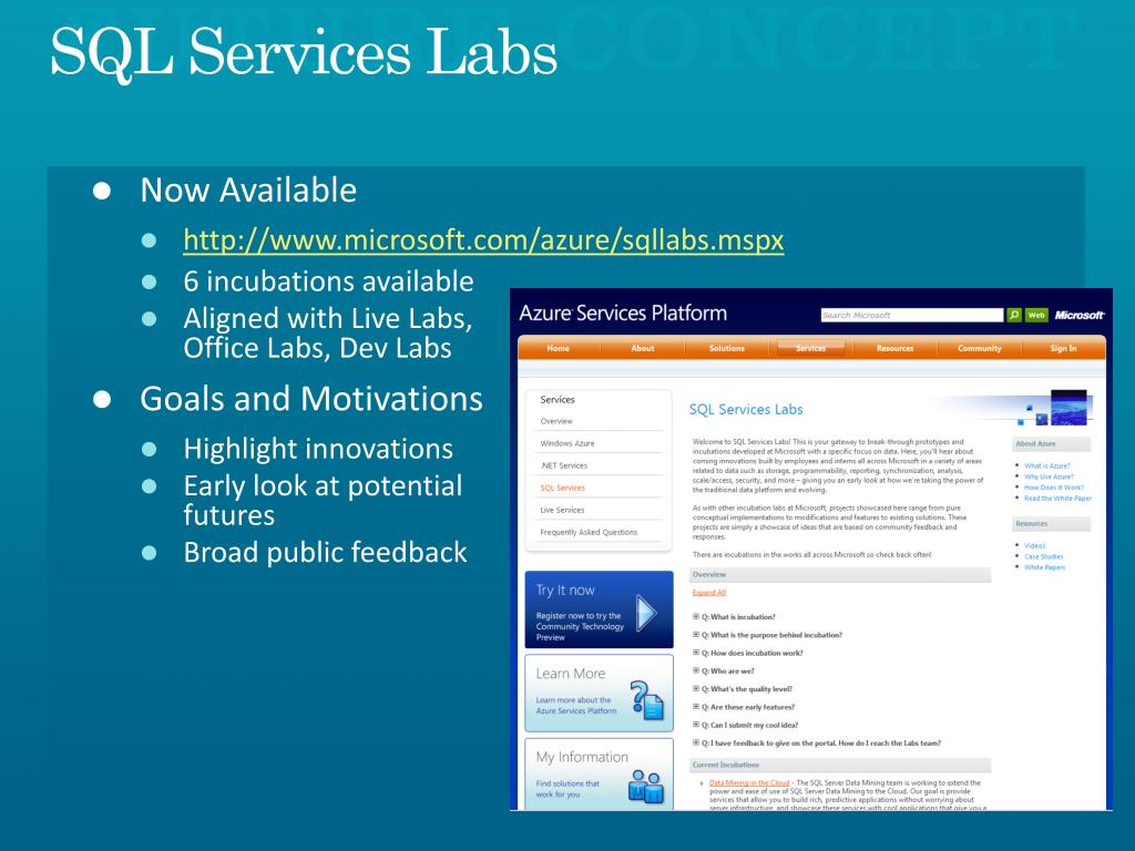 SQL Services Labs