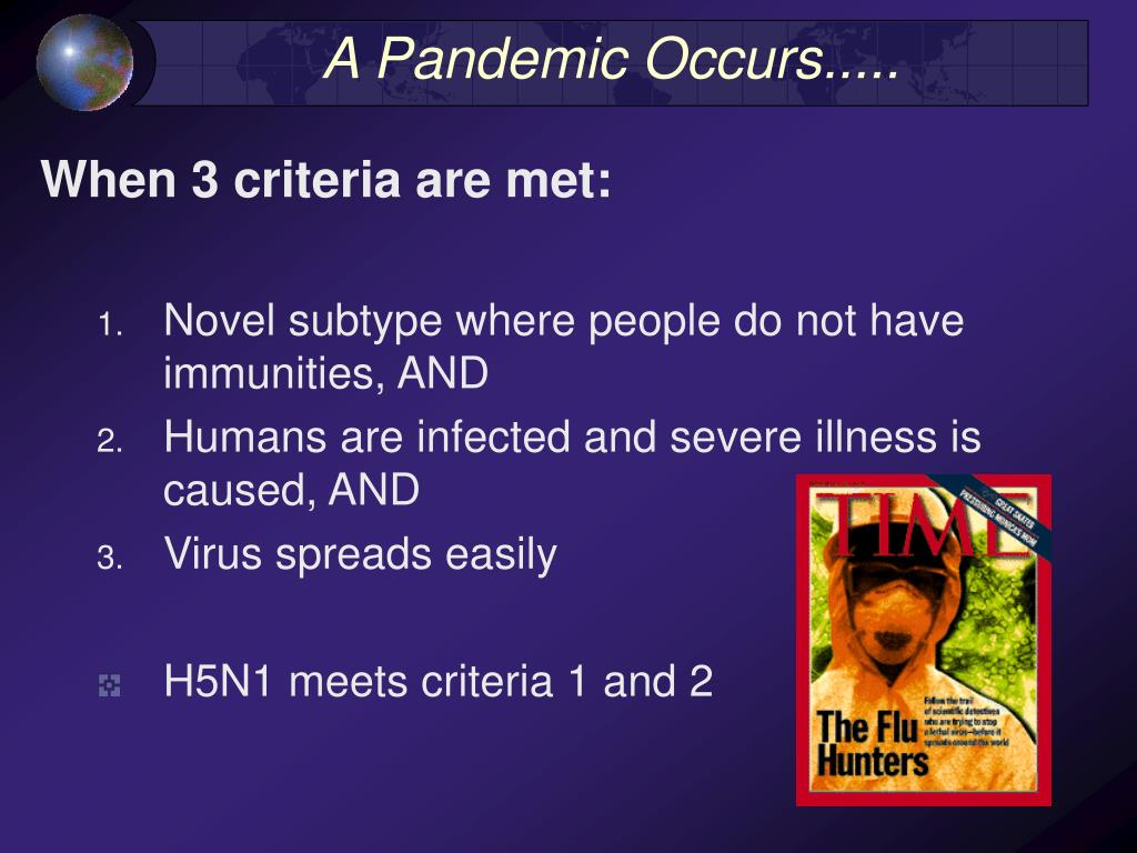 A Pandemic Occurs.....