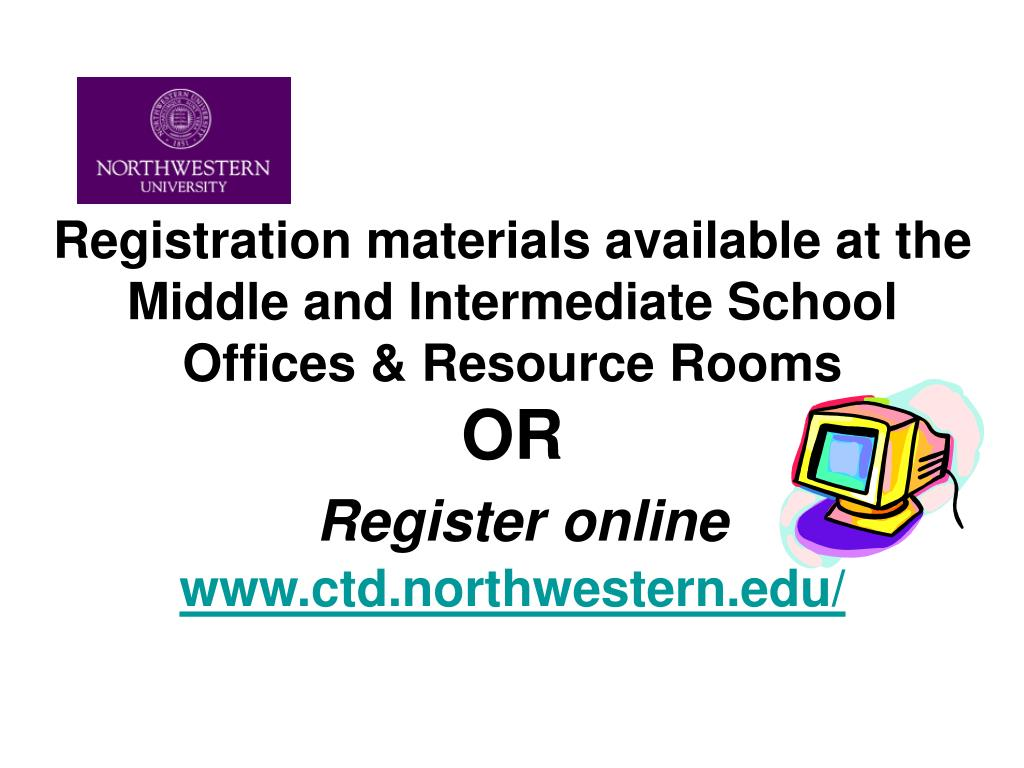 Registration materials available at the Middle and Intermediate School Offices & Resource Rooms